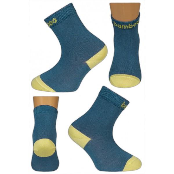 Bambusové ponožky vel. 29 - 32 - HUGO modré empty ff136865cd