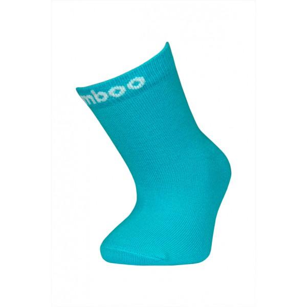 Bambusové ponožky vel. 14 - 18 - tyrkysové empty 4e79c77d5d