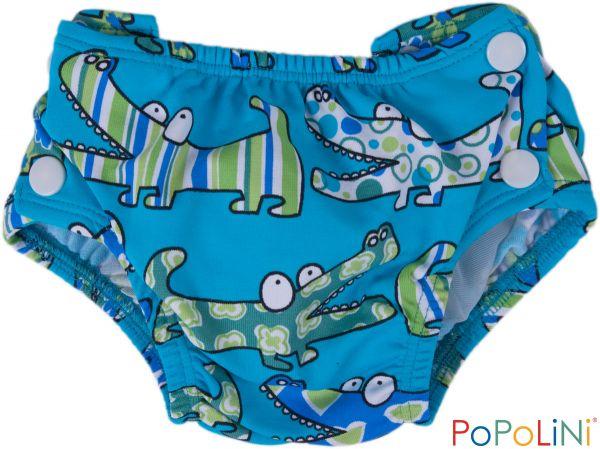 3a1bb4602d1 Plenkové kojenecké plavky Popolini vel. L - krokodýli