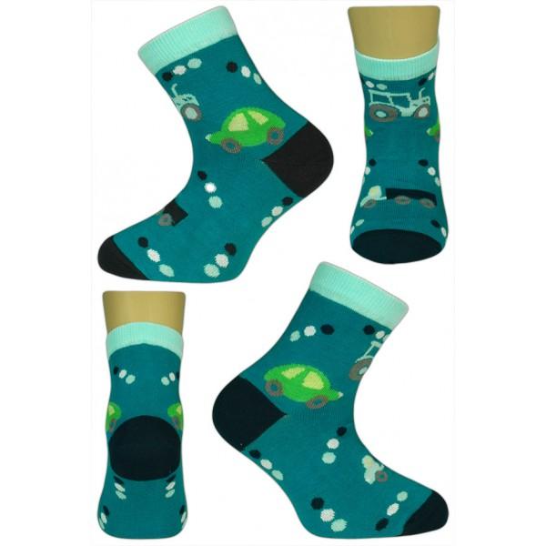 eb8df5e85b2 Dětské ponožky vel. 33 - 35 - TRAKTOR petrolejové empty