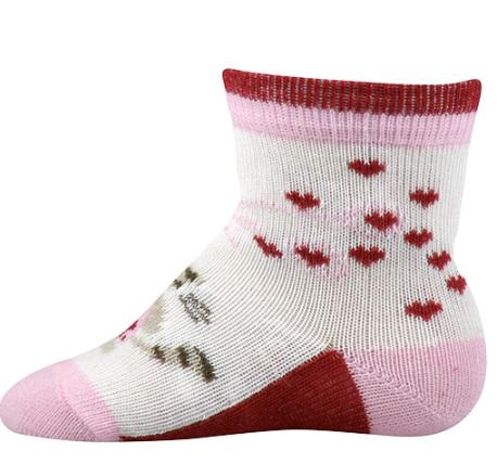 Kojenecké ponožky Lili vel. 18 - 20 - Kočička se srdíčky empty 341c369bbf