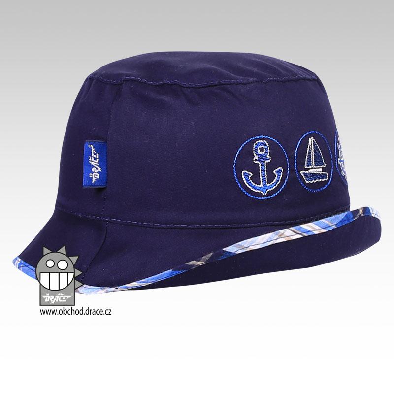 97b367c3728 Letní klobouk Dráče vel. 48-50 - Havana (tm. modrá 10) empty