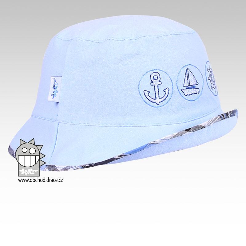 97b55866f3b Letní klobouk Dráče vel. 44-46 - Havana (sv. modrý 08) empty