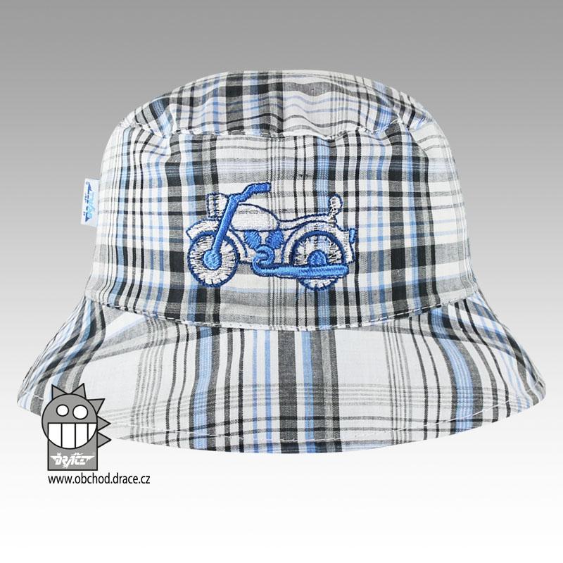 659dc63694b Letní klobouk Dráče vel. 44-46 - Hawai (šedo-modrá kostka s empty