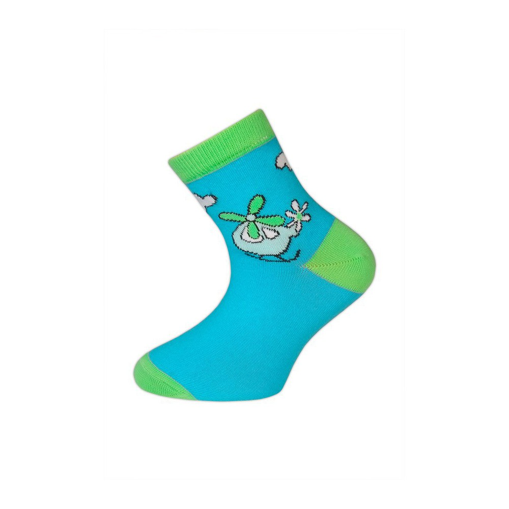 Dětské ponožky vel. 14 - 18 - LETADLO tyrkysové empty f9c3dfc9e1